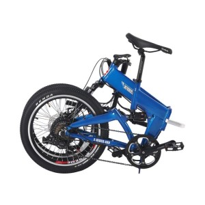 Folded X-Treme E-Rider 48 Volt Mini Folding Electric Bicycle