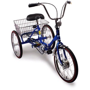 Port-O-Trike 3-Speed Deluxe Adult Folding Tricycle
