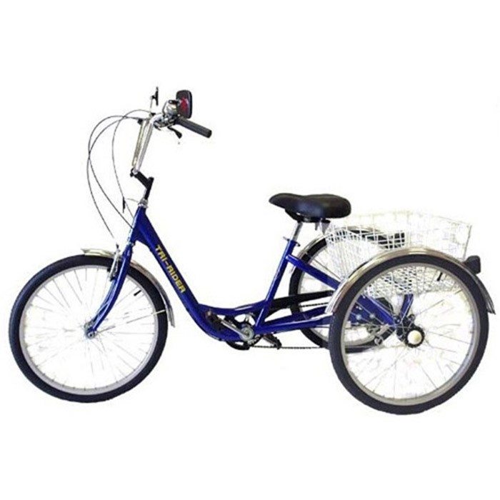 Belize Tri Rider Deluxe 6-Speed 24 Inch Adult Tricycle