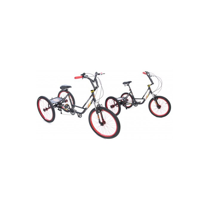"Mission BMX Trike MX 20"" wheel 6 Speed Teen/Adult Tricycle with"