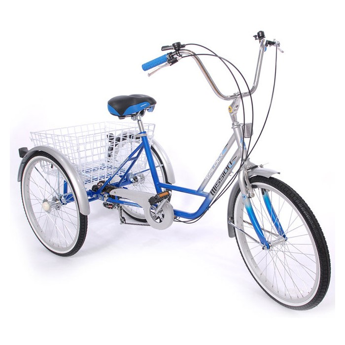 "Mission Trilogy 20"" 6 Speed Adjustable Adult Tricycle"