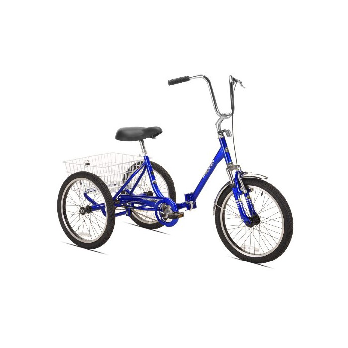 Worksman Deluxe 3 Speed Folding Port-O-Trike Adult Tricycle
