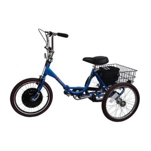 Worksman Lightning Electric Folding Port-O-Trike Adult Tricycle