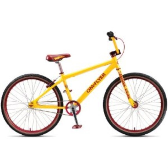 "SE 2010 OM Flyer Yowzers Yellow 26"" BMX Bike Loop Tail"