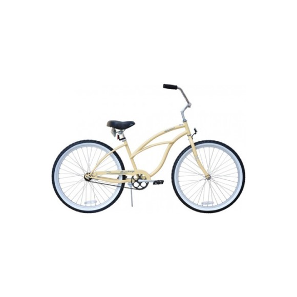 "Firmstrong Women's 26"" Steel Single Speed Urban Cruiser Bicycle"