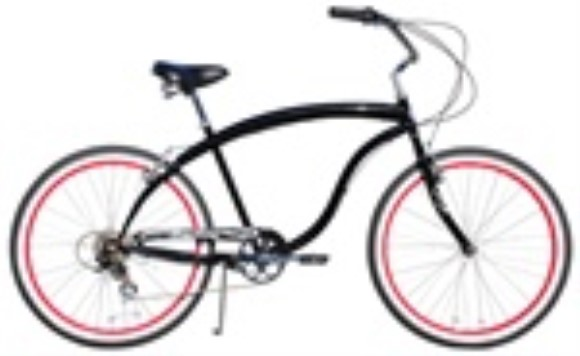 "Firmstrong 26"" Men's Bruiser 7 Speed Cruiser Bicycle"