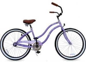 "GreenLine Bicycles 26"" BC-105 Single Speed Ladies Beach Cruiser"