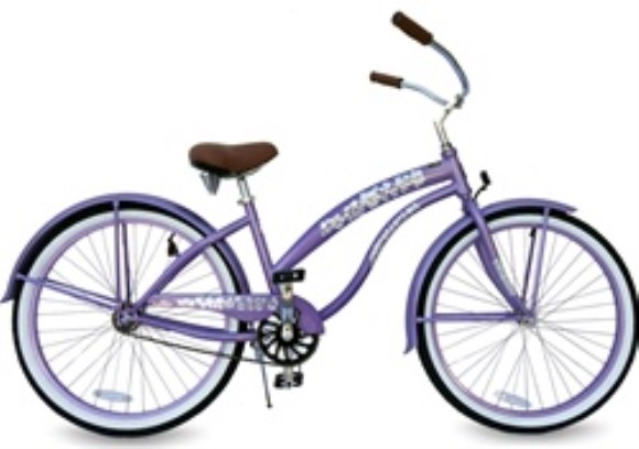 "GreenLine Bicycles Ladies Extended 26"" 1 Speed Premium Beach Cr"