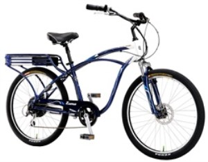 IZIP Zuma Mens Cantilever Frame Cruiser Electric Bicycle