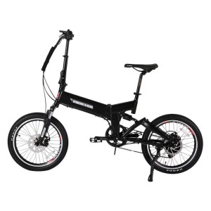 X-Treme E-Rider 48v Mini Folding Electric Bicycle black