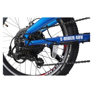 X-Treme E-Rider folding ebike rear