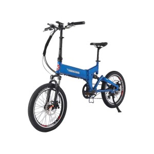 X-Treme E-Rider Folding Electric Bike blue