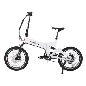 X-Treme E-Rider 48v Mini Folding Electric Bicycle white