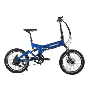 X-Treme E-Rider 48v Mini Folding Electric Bicycle blue