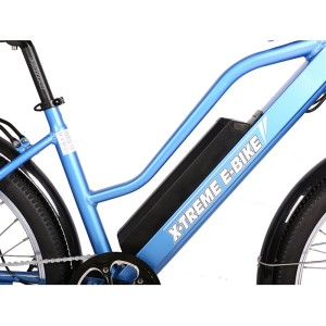 X-Treme Catalina 48v Electric Beach Cruiser battery