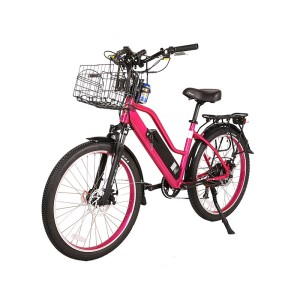 X-Treme Catalina 48v Step-Through Electric Beach Cruiser Bike Pink