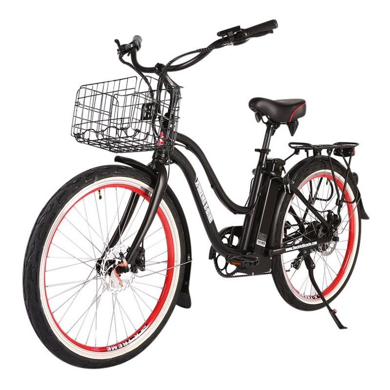 X-Treme Malibu Elite Max 36v Electric Beach Cruiser black