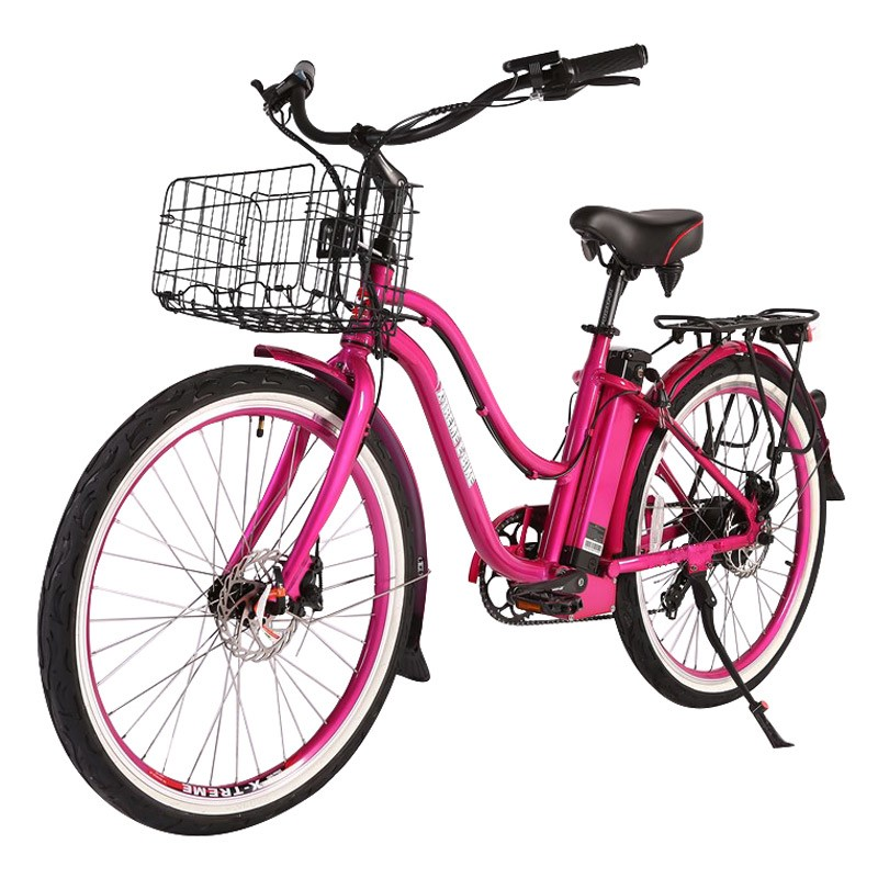 X-Treme Malibu Elite Max 36v Electric Beach Cruiser Pink