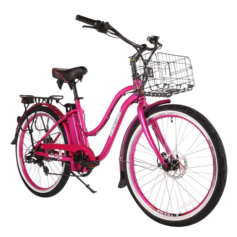 X-Treme Malibu Elite Max 36v Women's Electric Beach Cruiser