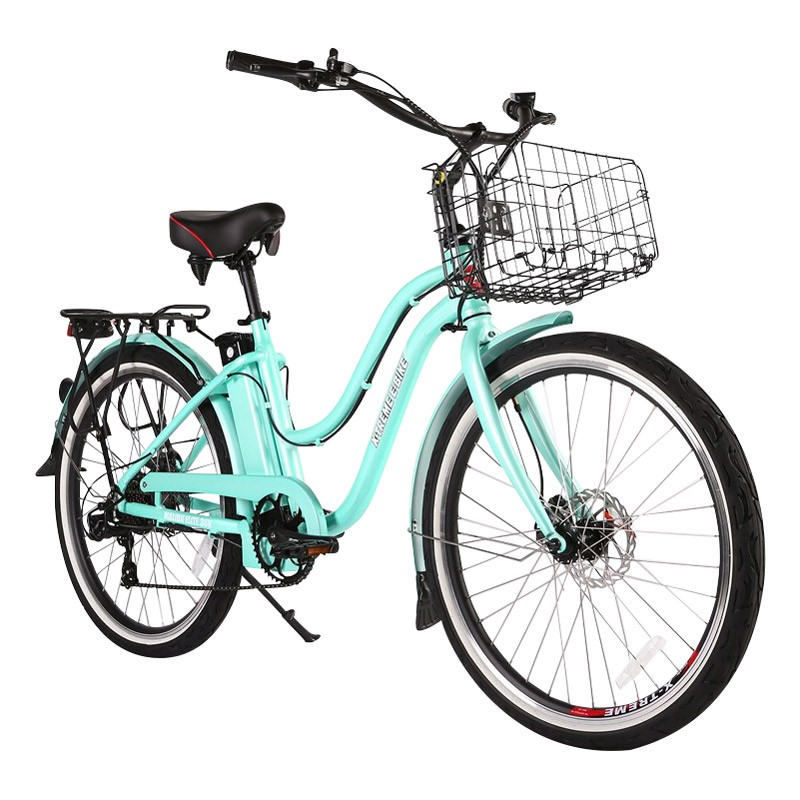 X-Treme Malibu Elite Max 36v Step-Through Electric Beach Cruiser Teal
