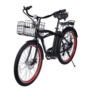 X-Treme Newport Elite 24v Electric Beach Cruiser metallic black