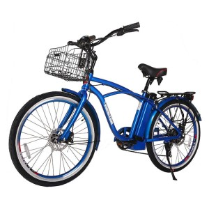 X-Treme Newport Elite 24v Electric Beach Cruiser metallic blue