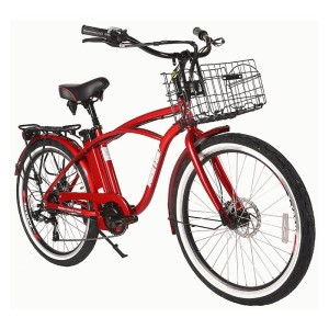 X-Treme Newport Elite 24 volt Electric Beach Cruiser metallic red