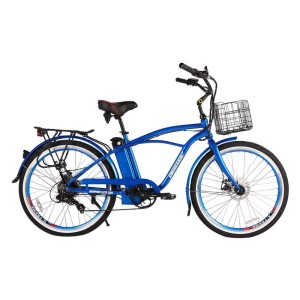 X-Treme Newport Elite Max 36 volt Electric Beach Cruiser metallic blue