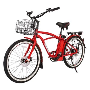 X-Treme Newport Elite Max 36v Men's Electric Beach Cruiser metallic red
