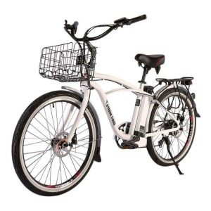 X-Treme Newport Elite Max 36v Men's Electric Beach Cruiser metallic white