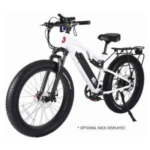 X-Treme Rocky Road 48v Fat Tire Electric Mountain Bike white