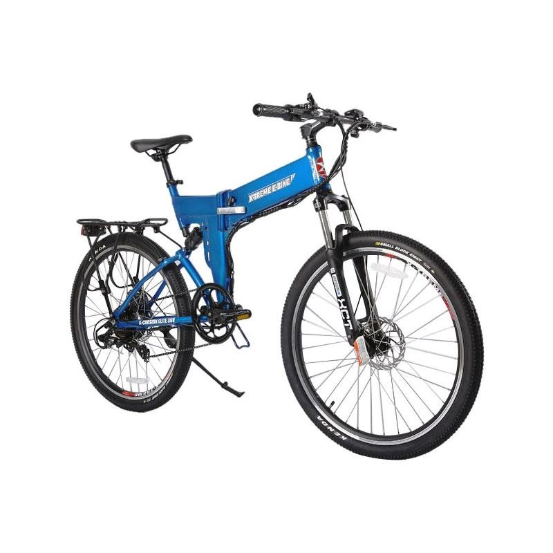 X-Treme X-Cursion Elite Max 36v Folding Electric Mountain Bike blue