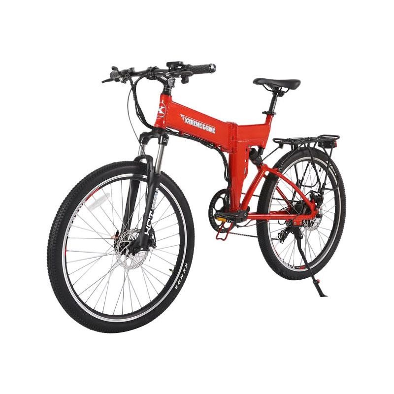 X-Treme X-Cursion Elite Max 36v Folding Electric Mountain Bike red