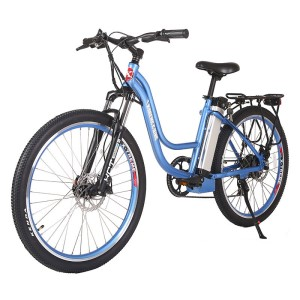 X-Treme Trail Climber Elite 24 Volt Electric Mountain Bike Baby Blue