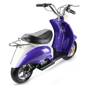MotoTec 24v Electric Moped rear