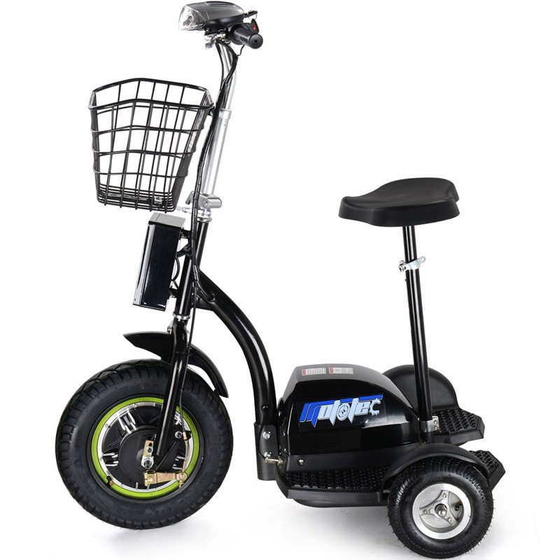 48 volt 500w MotoTec Electric Trike side