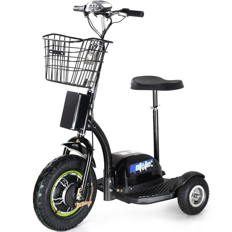 48 volt 500 watt MotoTec Electric Trike side angle