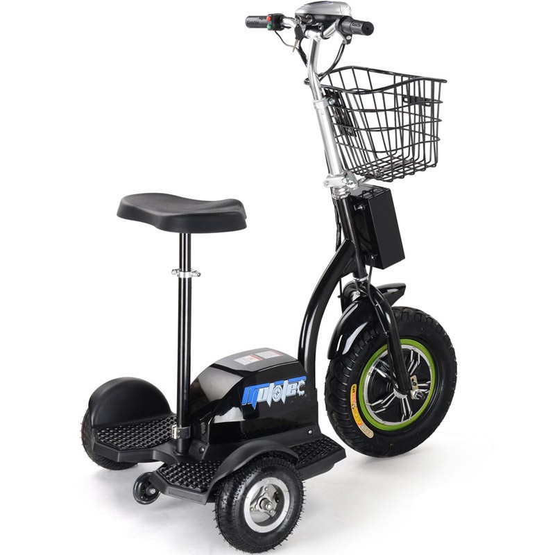 MotoTec Electric Trike 48 volt 500 watt side rear angle