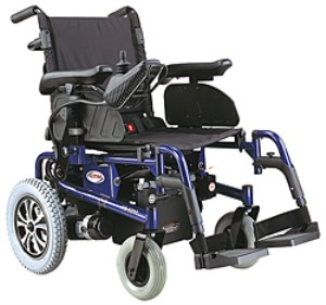 CTM Folding Power Chair with Drop-In Battery