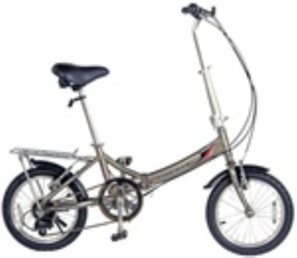 "Kent International Alloy 6-Speed Compact 16"" folding bicycle"