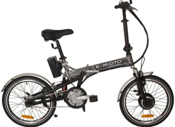 e-Moto Traveller 2.0 Electric 5 Speed Folding Bicycle