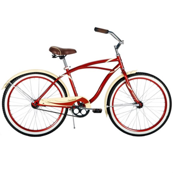 "24"" Huffy Boys' Cranbrook Cruiser Bike, Burgundy"