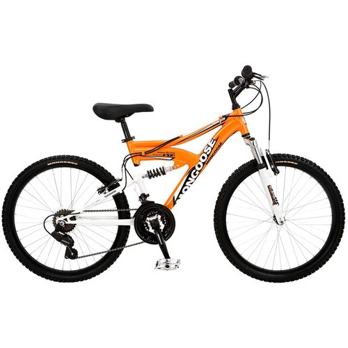 "24"" Boys' Mongoose XR-75 Dual-Suspension Bike"