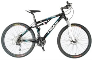 "Head Hide 26"" Full Suspension 27 Speed All Mountain Bike"