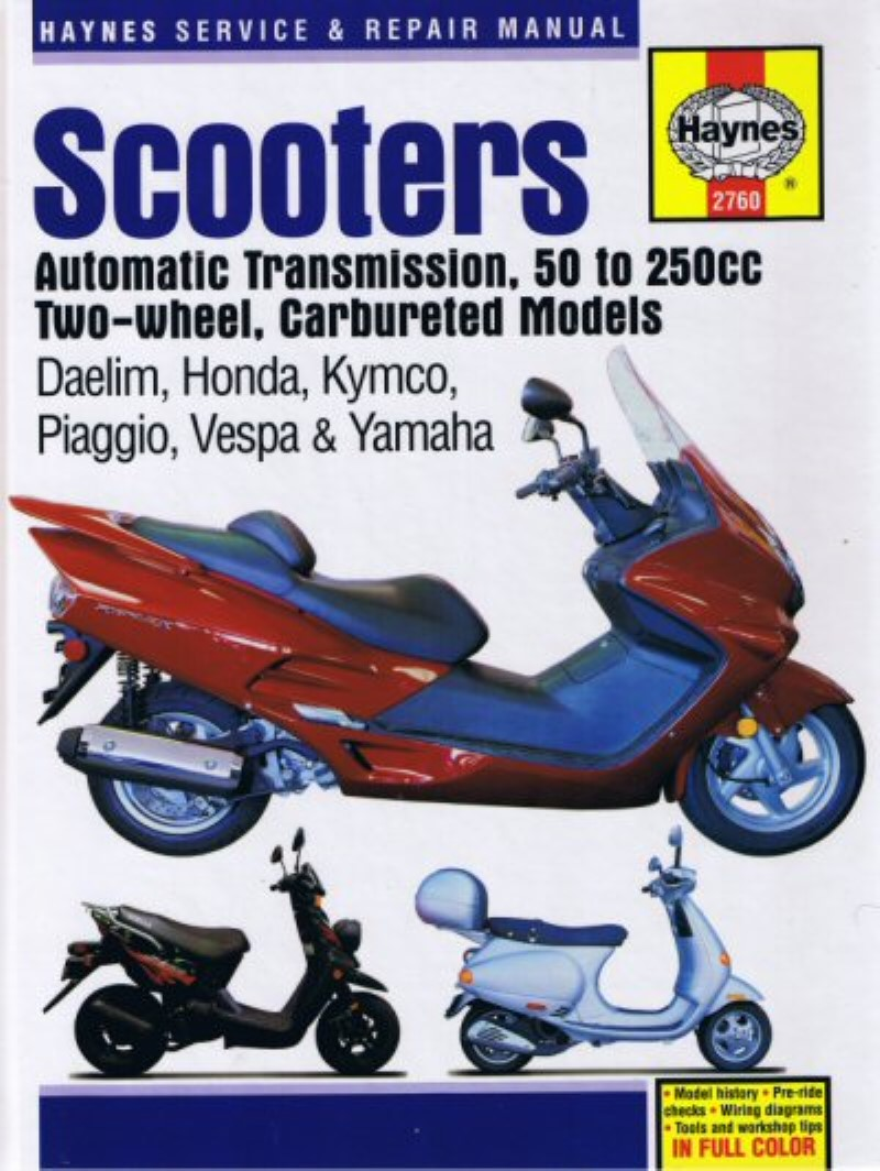 Haynes Hard Cover Scooter Book-Carbureted Models, Part #172-38 -  Accessories - UrbanScooters.com
