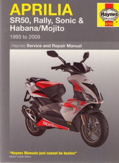 Aprilia Scooter Haynes Repair Manual, Part #172-73