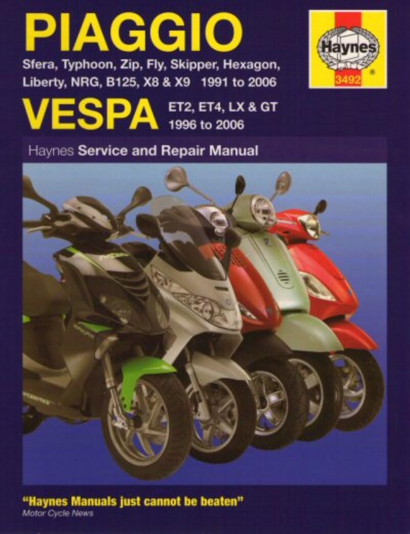 Piaggio Vespa Haynes Repair Manual Electronicswiring Diagram Daewoo Cielo 1996 Service Part 172 75 Accessories Urbanscooters