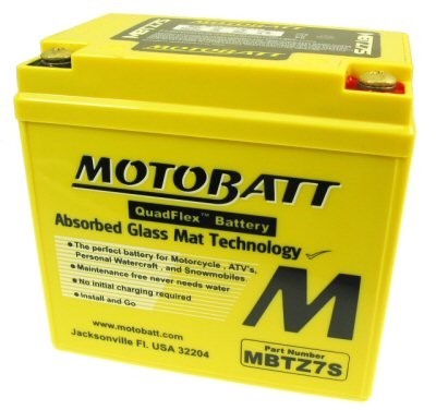 MotoBatt Quadflex Battery 12v 7ah, Part #104-27