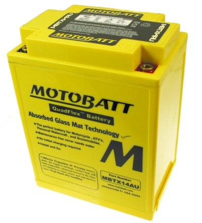 MotoBatt Quadflex Battery 12v 14ah, Part #104-36
