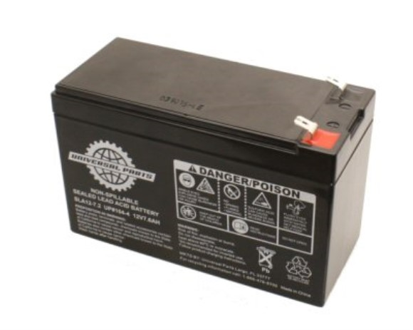 12V 7.2AH Battery SLA12-7.2, Part #104-4